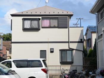 断熱・保温効果を有する塗料で外壁塗装、熱を反射させる塗料で屋根塗装完了です。