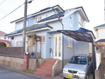 普及率が高いシリコン塗料で外壁工事。屋根は耐久性の長い塗料で仕上げました。
